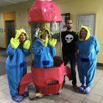 Staff Dressed as Aliens